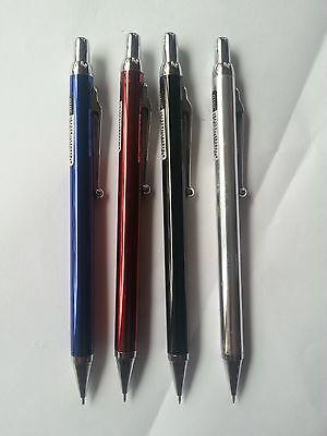 4 Pcs Mechanical Pencil 0.5mm black/ blue / red/ silver