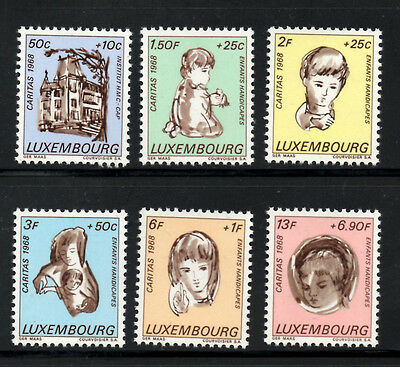 (Ref-5367) Luxembourg 1968 Welfare Funds SG.829/834  Mint (MNH)