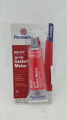 NEW Permatex High-Temp Red RTV Silicone Gasket 3oz.