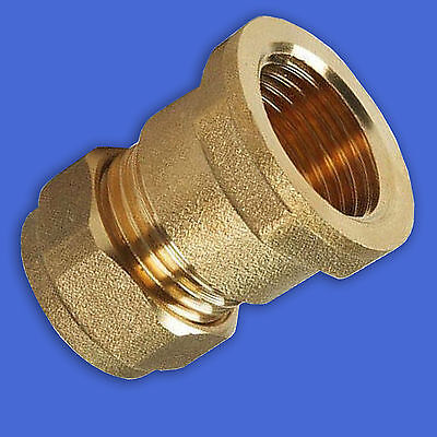 "15mm x 3/8"" BSP Female Plumbing Compression Brass Fitting                    #29"