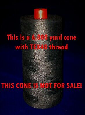 100 ft light black DuPont KEVLAR® Sewing Thread (TEX40), strong heat resistant