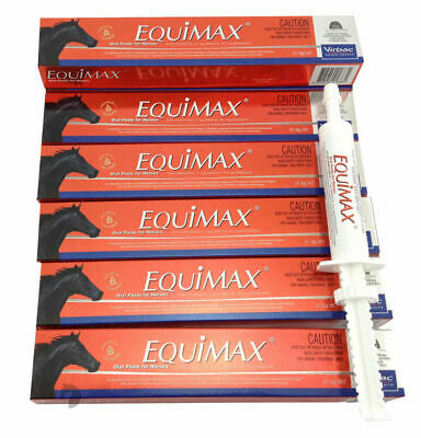 Premium 1 Year Horse Wormer Rotation Pack Equimax Oatmeal Flav stable 700gx6