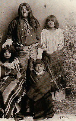 """"""" Captain Jack & Family """" Modoc Indian, Edward Canby -- Native American Postcard"""
