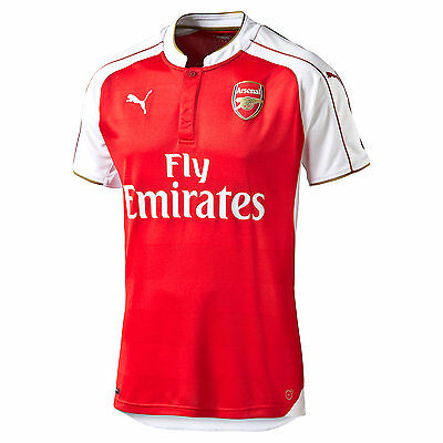 Puma Arsenal FC 2015 - 2016 Home Soccer Jersey Brand New Red   White 4a0ca3192