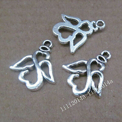 15pc Tibetan Silver Angel Pendant Charms Beads Accessories Findings PL690