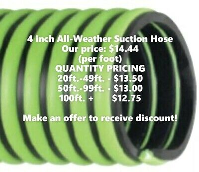 Kanaflex 300 EPDM Green 4 inch All-Weather Septic/Water Suction Hose (per foot)