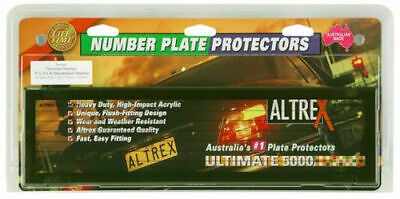 QLD SA VIC NT WA TAS Number Plate Covers - Slimline Black Pin Lined Pair - 6VSL