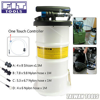 FIT 4L Pneumatic / Air / Hand / Manual Oil & Fluid & Water Bleeder Extractor