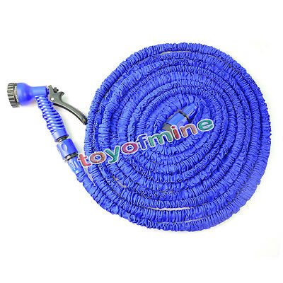 Latex Deluxe 25 50 75 100 FT Expanding Flexible Garden Water Hose