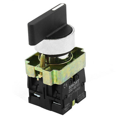 ZB2-BE101 21mm Panel Mount SPDT 2NO 3-Position Rotary Switch AC 600V 10A