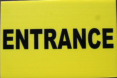 Event Signage - ENTRANCE Sign On Yellow Correx - Direction Signs (24-21)