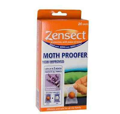 Pack of 20 ZENSECT Moth Proofer Insect repellent balls Lavender Scent