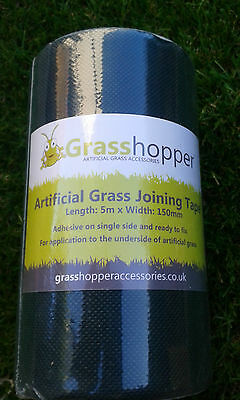 Artificial Grass Tape 5m Self Adhesive Join Joint  Seaming (L500cm x W15cm) gh