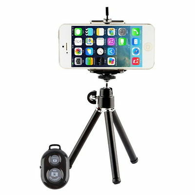 Camera Tripod Stand Holder Bluetooth Shutter Remote for iPhone 4 5 6s 7 8 plus X