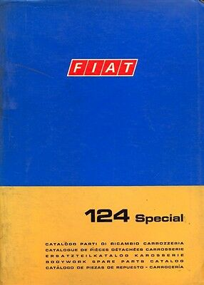 Fiat 124 Special 1970 bodywork carrozzeria parts book