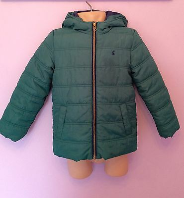 Joules Green Padded Hooded Jacket Age 6 Yrs