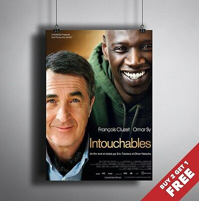 THE UNTOUCHABLES 2011 MOVIE POSTER A3 A4 * Classic Cult Film Poster Prints