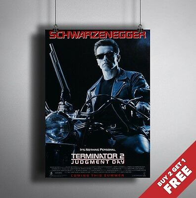 TERMINATOR 2 JUDGMENT DAY A3 A4 MOVIE POSTER * Arnold Schwarzenegger Film Print