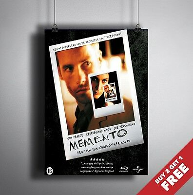 MEMENTO 2000 MOVIE POSTER A3 A4 * Classic Cult Film Poster Wall Art Print
