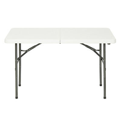Folding Table 4' Portable Plastic Indoor Outdoor Picnic Party Dining Camp Table