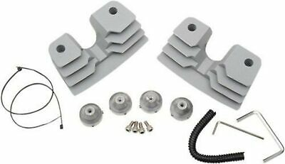 Spark Plug / Head Bolt Covers Finned, Silver / Natural for Harley Twin Cam 99-17