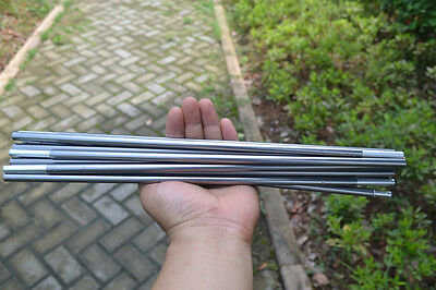 Grey Camping 11 Sections Aluminum Alloy 8.5mm 404cm Spare Replacement Tent Poles