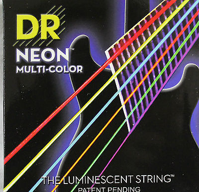 DR Neon Hi Definition Multicolour Electric Guitar Strings, Luminescent Strings