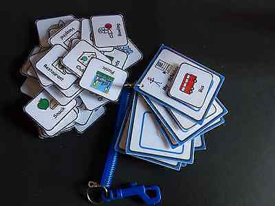 Out and About Schedule Keyring & 40 Symbols- Visual Support for Autism/ADHD/SEN