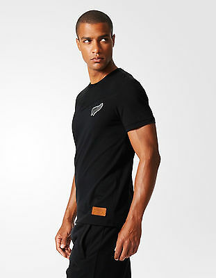 16th All Blacks New Zealand Adidas Leisure T-shirt Black 2015 16 Men