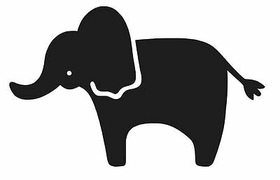 Elephant Silhouette Vinyl Decal Sticker Zoo Cute Laptop Window Choose Color