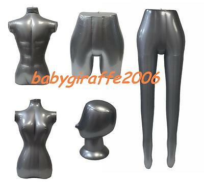 Inflatable Mannequin Clothes Dummy Leggings Torso Hip Head Women Men Children