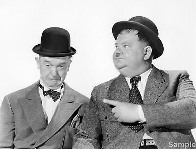 Laurel and Hardy 3 Black & White 10x8 Glossy Photo Print Poster