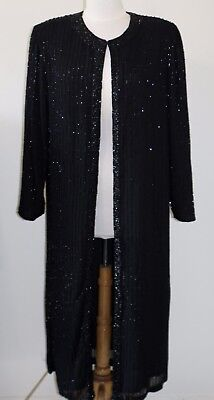 Jasdee Vintage Beaded Long Jacket Hand Work On Chiffon Style 1686