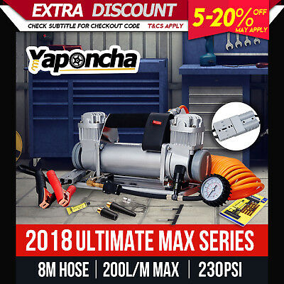 New Yaponcha 12V Air Compressor 4X4 Car Tyre Deflator Inflator 200L/min Portable
