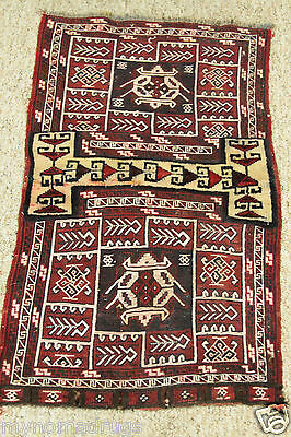 Antique Kurdish Tribal  Tent Woven Salt  Bag-Cr1930-1940s