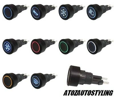 PUSH BUTTON SAVAGE BLACK SWITCH -  LED - Kit Car / Van / Marine ETC <<NEW>>