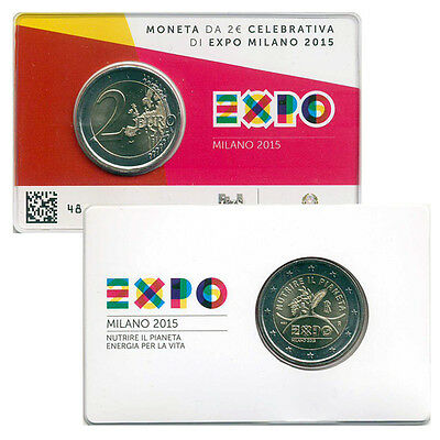 2 EURO Italia 2015 - EXPO Milano 2015 in coin card blister