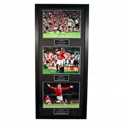 Manchester United F.C - Treble Framed Signed Print (WINNERS)