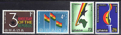 GHANA 1963 MNH SC.143/146 3th. Annv.of Independence