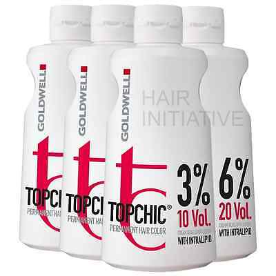 Goldwell Topchic Lotion Developer Peroxide 3% / 6% / 9% / 12% - 1000ml Litre