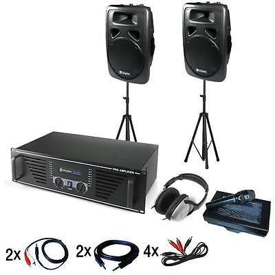 Top Dj Pa Sound Anlage Komplettset Für Outdoor Event Musik Entertainment 2400W