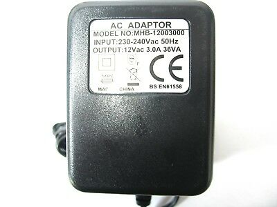 Ac/ac Mains Power Adaptor/supply/charger/transformer 3 Amp/3000Ma 12 Volt Output