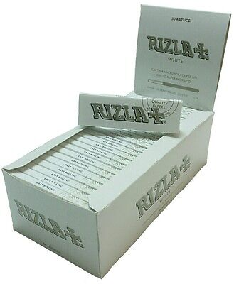 Rizla White Perforated Regular Standard Cigarette Smoking Rolling Papers Box