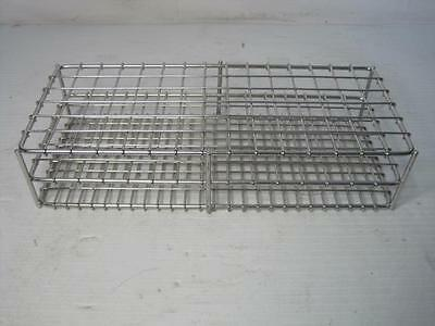 """9140 Test Tube Rack Holds 90 Test Tubes Stainless 9/16"""" or Aprox. 14.5 mm Holes"""