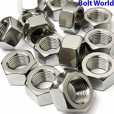 "8, 10, 1/4, 5/16, 3/8, 7/16, 1/2"" Unc A2 Stainless Steel Hex Hexagon Full Nuts"