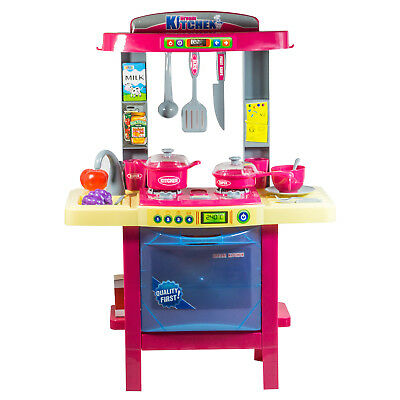 New Children Kids Kitchen Cooking Cookery Cooker Play Set Toy with Light & Sound