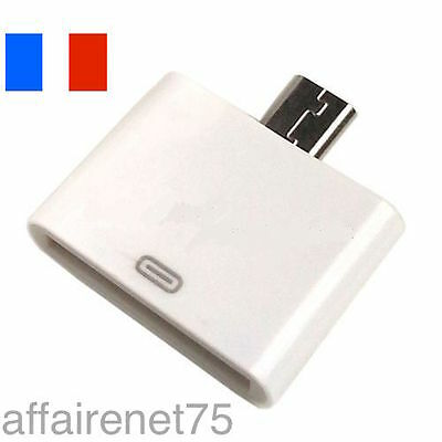 Adaptateur Chargeur 30 Pin iPHONE 4 Vers Micro USB SAMSUNG GALAXY HTC NOKIA