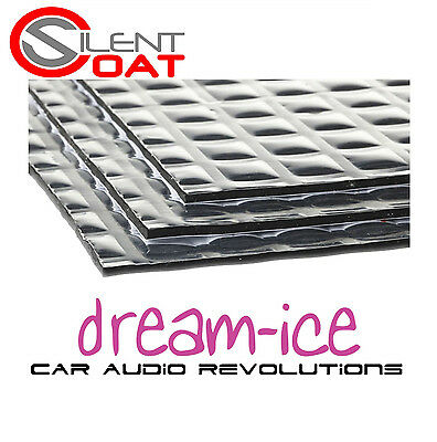Silent Coat Bulk Pack 40 Sheets Car Sound Deadening Proofing Material 2Mm Mat