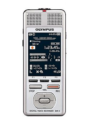 Olympus DM-3 Digital Voice Reorder Media Player 4GB Podcast  SDHC Expansion