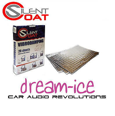 SILENT COAT SOUND DEADENING VOLUME PACK 20 SHEETS 375 x 270mm BY 2mm EACH SHEETS